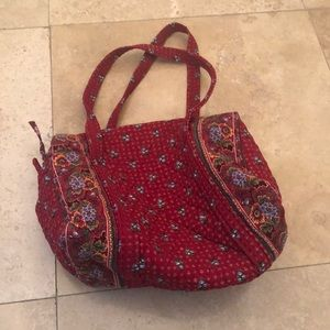 Provincial Red Vintage Vera Bradley Medium Bag